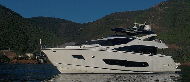 Mibowt yacht at anchor