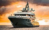 Mogambo yacht anchored