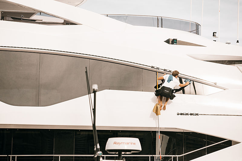 Yacht crew during the Monaco Yacht Show 2019