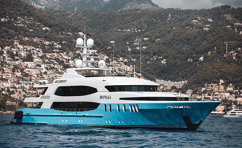 Skyfall yacht in Monaco