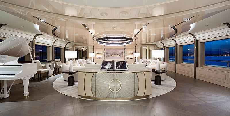 Aurora Borealis yacht saloon