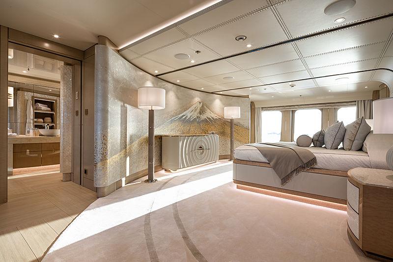 Aurora Borealis yacht owner's suite