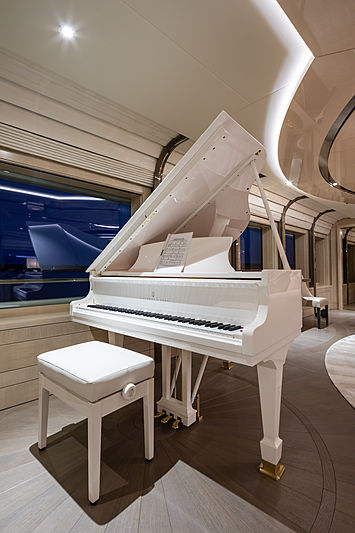Aurora Borealis yacht bridge deck saloon