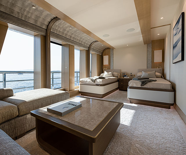Aurora Borealis yacht stateroom