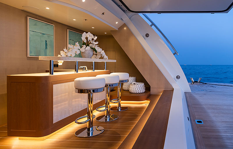 Aurora Borealis yacht beach club