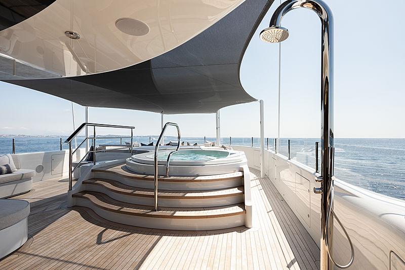 Aurora Borealis yacht jacuzzi
