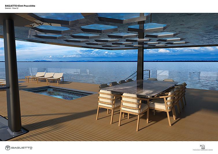Baglietto 65m V-line yacht project by Paszkowski Design
