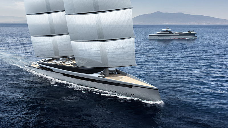 Royal Huisman Lotus yacht concept rendering