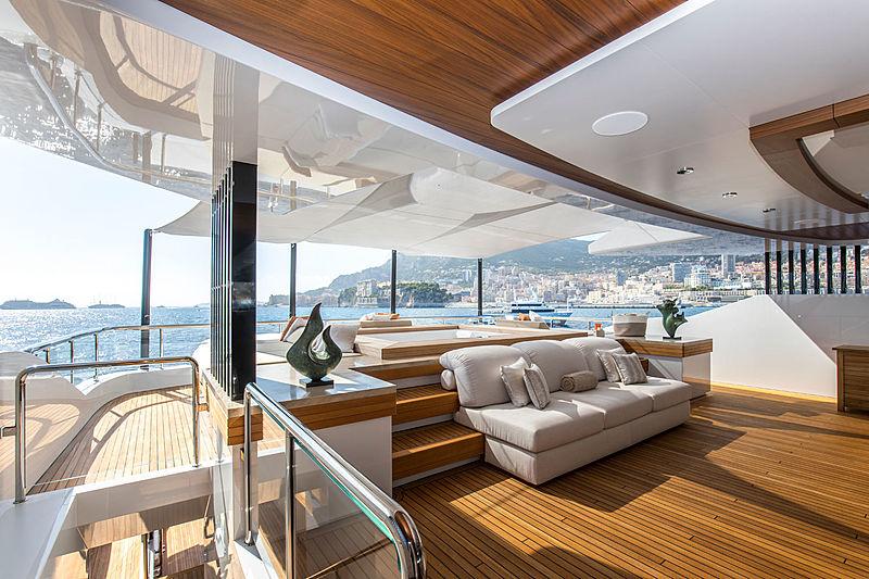 Admiral yacht Life Saga deck