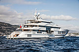 Admiral yacht Life Saga anchored off Monaco