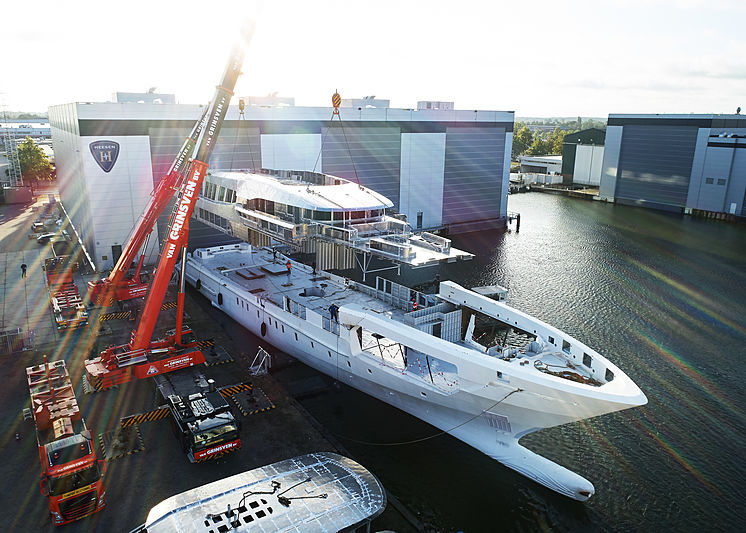Project Falcon construction at Heesen