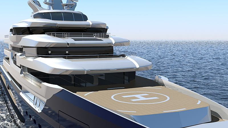 Oceanic 135 yacht concept exterior design