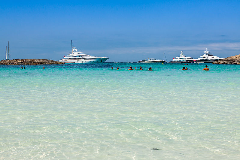 Yalla, Blind Date and Let It Be yachts in Formentera