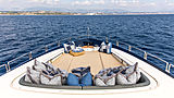 Cheeky Tiger yacht foredeck