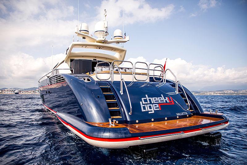 Cheeky Tiger yacht stern