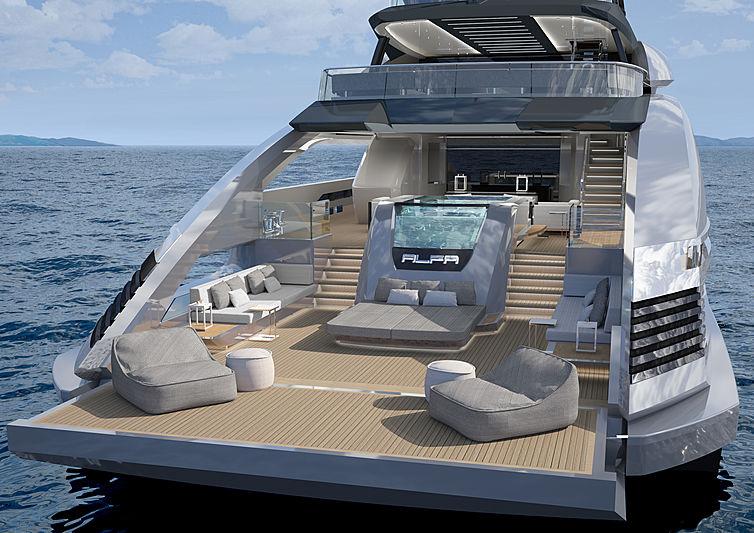 Alfa yacht concept by Rossinavi exterior design