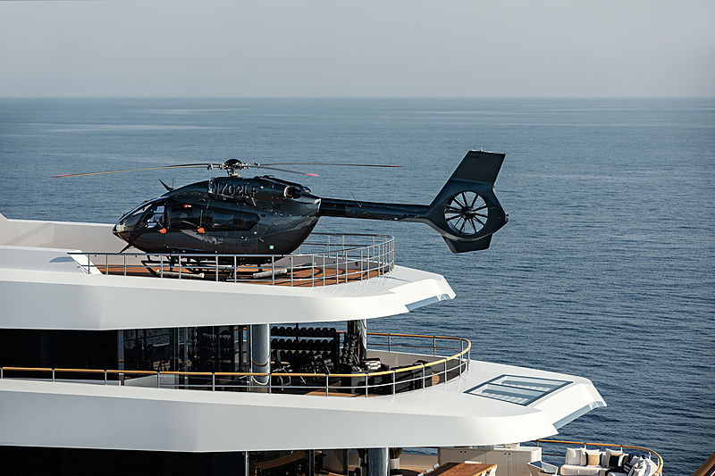 Lonian yacht helicopter landing pad