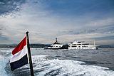 Joy Rider yacht anchored