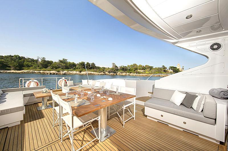 Phantom yacht aft deck