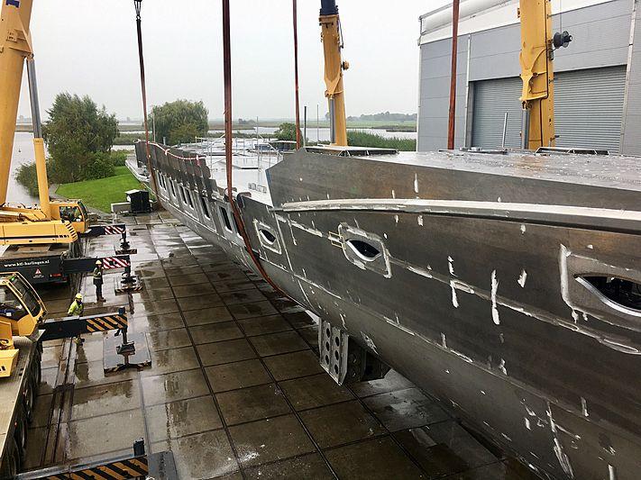 Royal Huisman Project Phi in build in Vollenhove