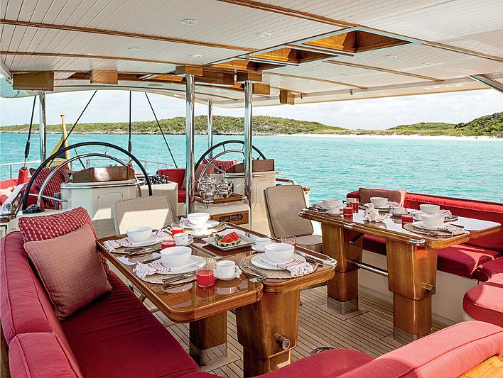 Tenacious yacht deck