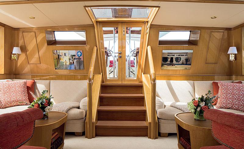 Tenacious yacht interior