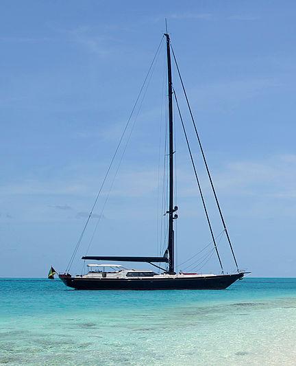 Tenacious yacht anchored