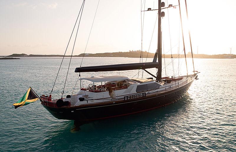 Tenacious yacht cruising