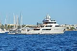 Aspire yacht anchored off Cannes