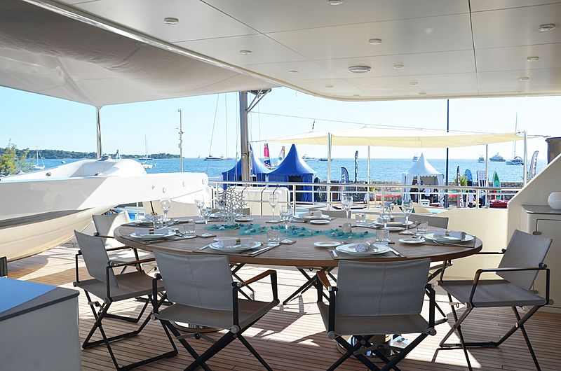 Babbo yacht deck
