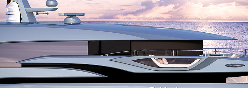 Phi yacht project rendering
