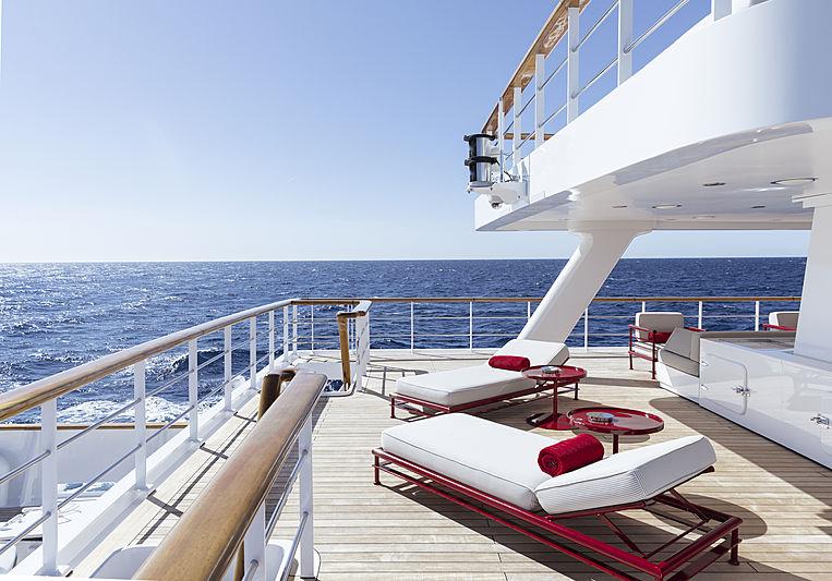 Olivia yacht aft deck