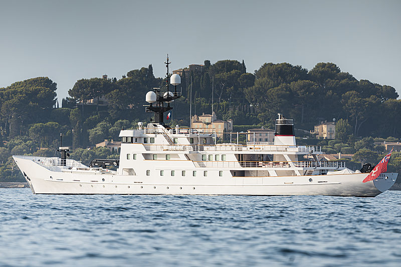 Olivia yacht at anchor