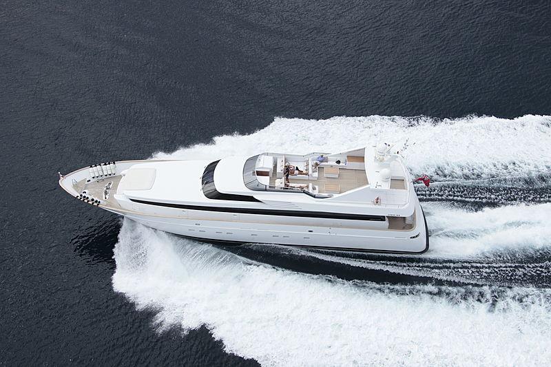 Shooting Star Delta yacht aerial