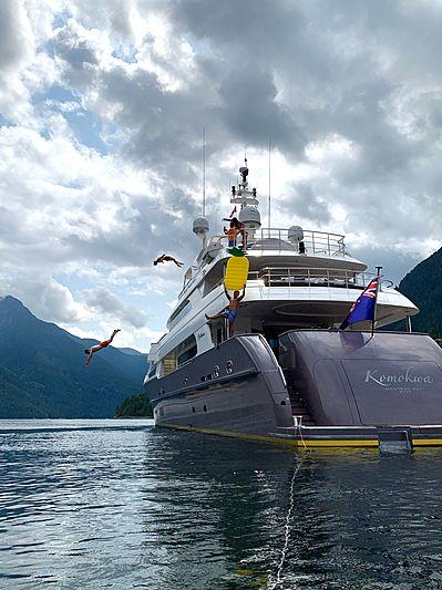 Komokwa yacht anchored