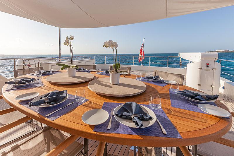 Acala yacht deck