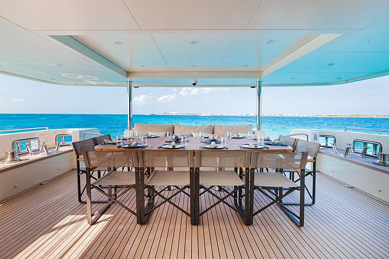 Acala yacht aft deck