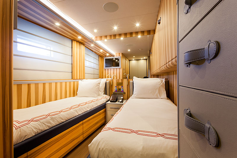 Acala yacht stateroom