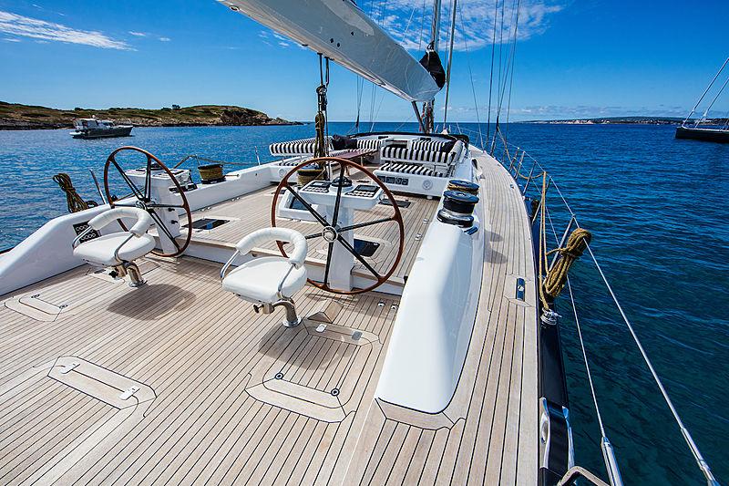 Aquarius Afla yacht deck