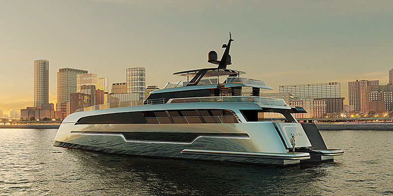 110 Sunreef Power yacht rendering