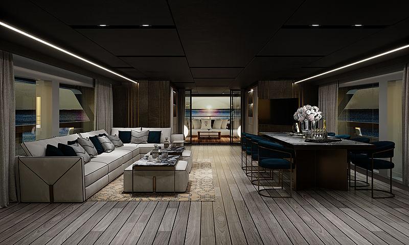 Baglietto 10233 yacht interior design