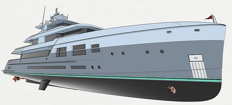 7Oceans 45m explorer yacht concept by DLBA