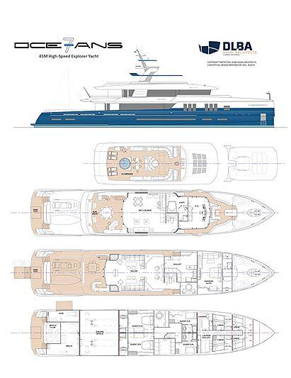 7Oceans 45m explorer yacht concept GA