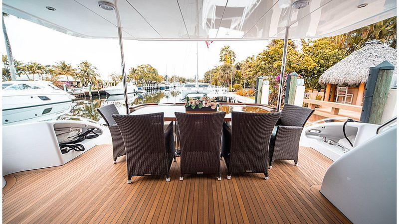 Family Jewel yacht aft deck