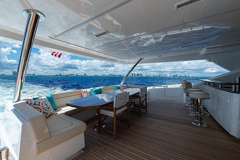 Book Ends yacht aft deck