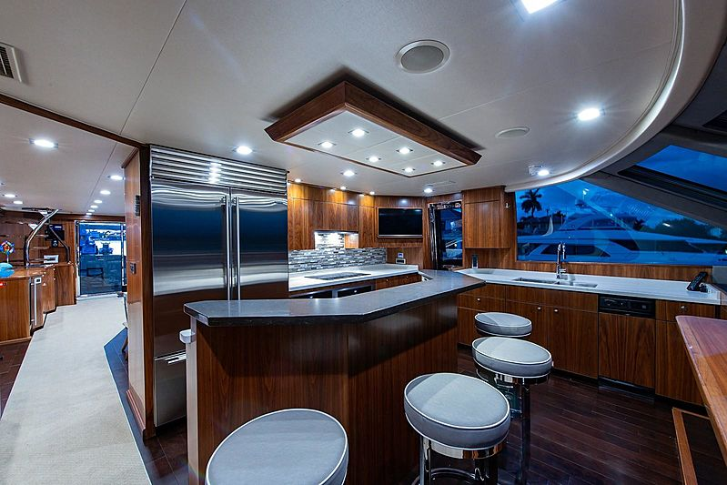 Book Ends yacht galley