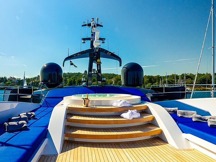 Royal Falcon One  yacht sundeck