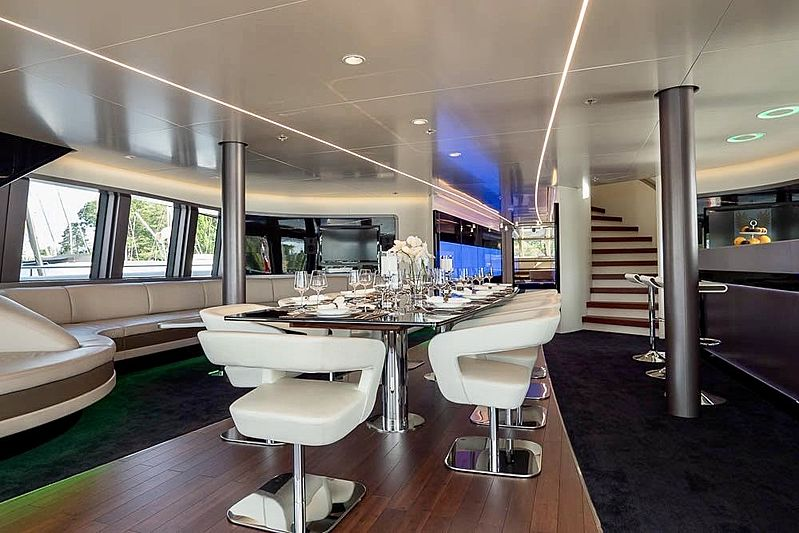 Royal Falcon One  yacht dining table