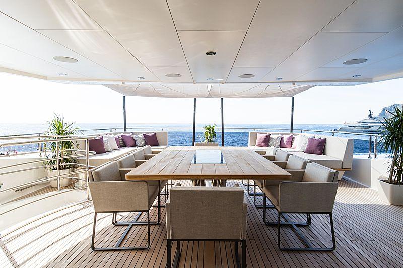 Angelus yacht aft deck