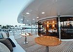 Alegria yacht aft deck